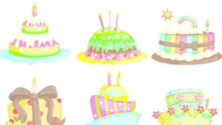 简笔画——生日蛋糕的画法