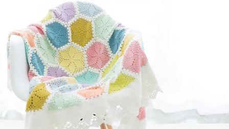 【金贝贝手工坊185辑】M128百合花毯(上)毛线钩针编织DIY拼花毯子宝宝盖毯空调毯毛线编织教程钩法