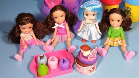 灵犀小乐园之美食小能手 芭比娃娃制作巧克力蛋糕杯 芭比娃娃制作巧克力蛋糕杯
