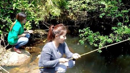 钓鱼: 山上资源不错, 玩得很开心