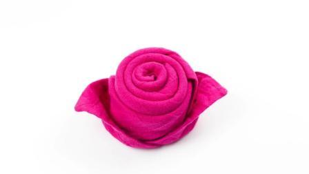 折纸王子大全 简单折纸 折纸王子教你折 毛巾玫瑰花