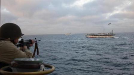 中国渔船非法捕捞被机枪扫射