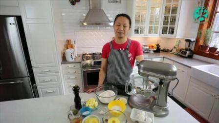 烘焙蛋糕学习技术 榴莲千层蛋糕的做法 无奶油水果蛋糕