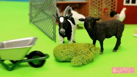 各种家禽动物 鸡鸭猪奶牛毛驴玩具总动员 故事编排