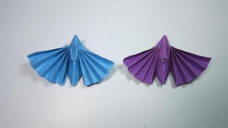 儿童手工折纸小动物 简单的飞蛾折纸教程
