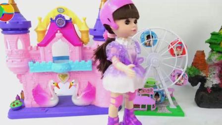 游乐场吃冰激凌拆奇趣蛋, 婴幼儿宝宝玩具游戏视频