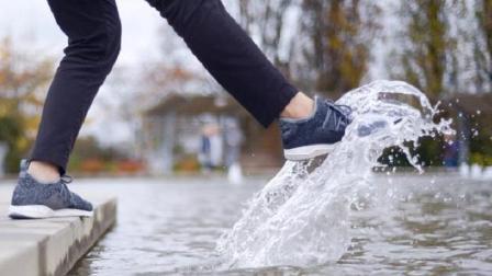 世界首款百分百防水运动鞋, 怎么趟水都不湿, 关键还透气