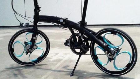 没有辐条的自行车, 靠三个圈支撑车轮, 减震效果超强