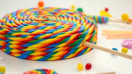 教你一款儿童喜爱的创意甜品食谱, 棒棒糖蛋糕里面还有彩虹惊喜
