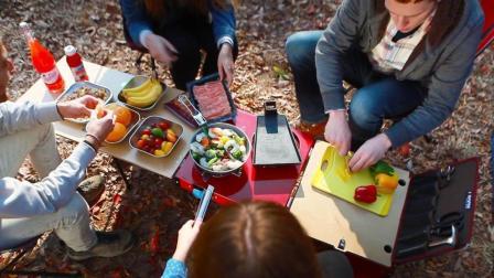 一个小箱子, 满足你外出野餐的所有设备和食物!