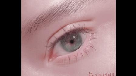 半写实风格的眼睛画法