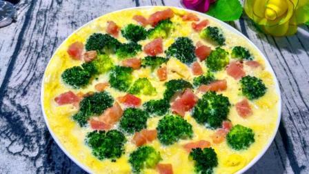 西兰花鸡蛋豆腐羹, 色香味俱全, 好看又好吃, 做法超简单