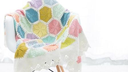 【金贝贝手工坊 186辑】M128百合花毯(下) 毛线钩针编织DIY拼花毯子 宝宝盖毯空调毯
