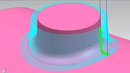 圆柱加曲面不提刀经典路径(UG编程)