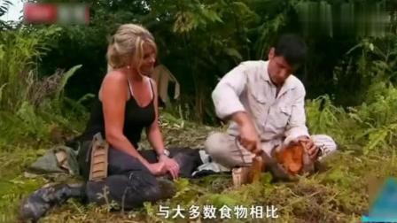 荒野求生: 夫妻档探险在森林找到10几个宝贝, 这顿吃的美滋滋