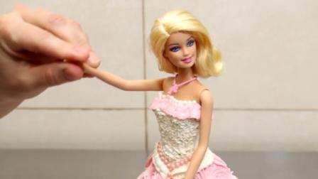 可爱美丽的芭比公主蛋糕, 萌化你的少女心, 制作方法超简单