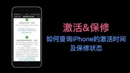 如何查询iPhone的激活时间及保修状态?
