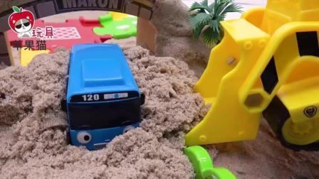 沙滩城堡汽车玩具 闪电麦昆警车珀利汪汪队拯救小公交车太友小巴士