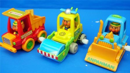 玩乐三分钟 面包超人的各种工程车玩具大介绍