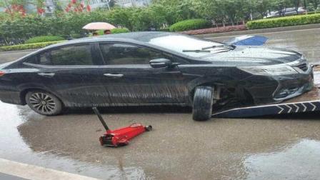 本田凌派紧急制动, 车主想不到这一脚刹车竟把前轮踩出严重问题!
