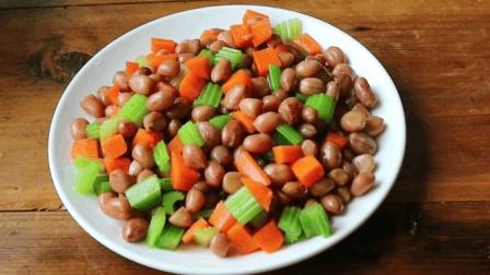 节后刮油菜, 花生米这样做即营养又美味, 下酒必备小凉菜, 先收藏了