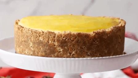 美味的芝士蛋糕, 饼干外壳包裹着香滑的奶油无与伦比的享受