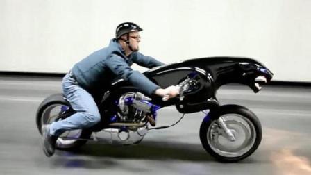 最拉风的豹子摩托车, 身高一米8才能骑, 售价能买下劳斯莱斯