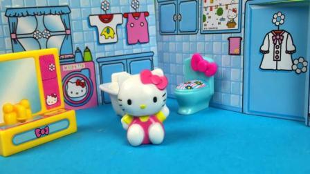 奇趣蛋和KT猫的可爱小屋玩具