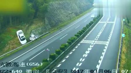 奥迪高速见车就超, 时速210, 下一秒二车人无人幸免都上天堂