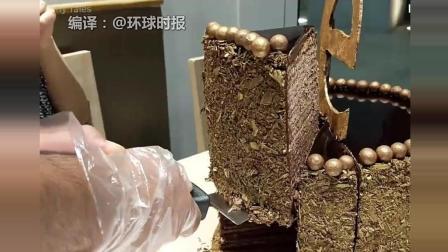 吃货的挑战! 10分钟内吃完这块48层蛋糕就免单, 蛋糕重2.7斤!