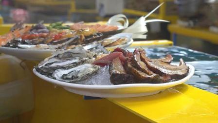 各种海鲜大拼盘, 光看着就让人很有食欲