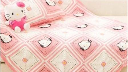 【金贝贝手工坊 187辑】M114KT猫毯子(上) 毛线钩针编织宝宝盖毯 床罩 抱枕 空调毯子