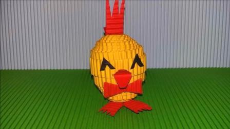 儿童手工DIY, 制作可爱小鸡的简单方法, 适用于孩子们学习