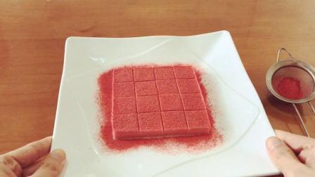 试吃自己做的日本北海道草莓生巧克力