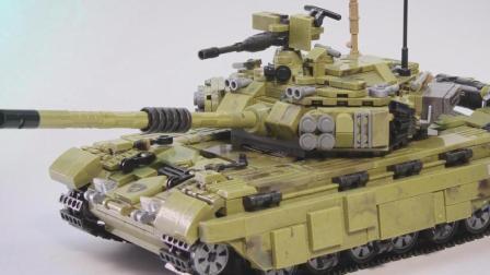 星堡积木 高端军事坦克 积木定格动画拼搭