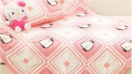 【金贝贝手工坊 188辑】M114KT猫毯子(下) 毛线钩针编织宝宝盖毯 床罩 抱枕 空调毯毛毯