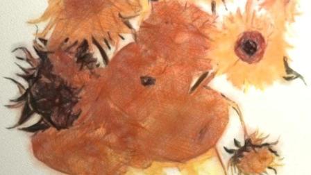 科技还原梵高向日葵绘画过程