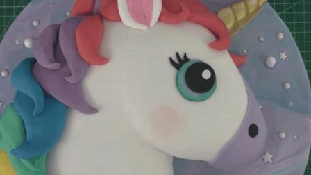 可爱的彩虹独角兽蛋糕, 萌呆了