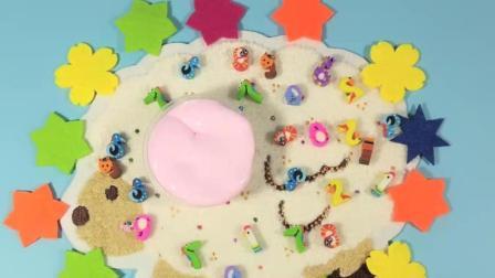 灵犀小乐园之水晶泥史莱姆 像蛋糕一样的粉色棉花泥 像蛋糕一样的粉色棉花泥