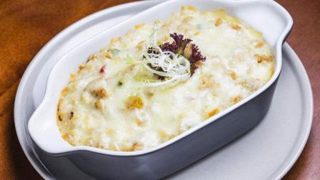 芝士火腿焗饭的家常做法, 不用叫外卖也能吃的美味晚餐