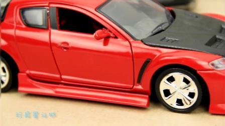 儿童玩具汽车: 一大型4S店成功组装闪电麦昆赛车动画视频