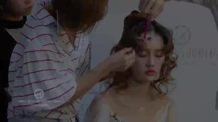 最新新娘妆画法新娘跟妆学习化妆盘头