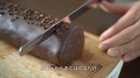 良心制作呀~食欲满满的淋面巧克力蛋糕卷制作过程