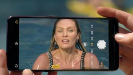 陈伟霆去海外游玩, 手持OPPO R15拍摄正在游泳的比基尼美女?