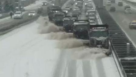 长春全城清雪 场面震撼似大片