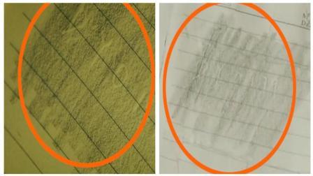 《和平饭店》穿帮镜头: 奇怪! 陈佳影拓印的纸张图案前后不同