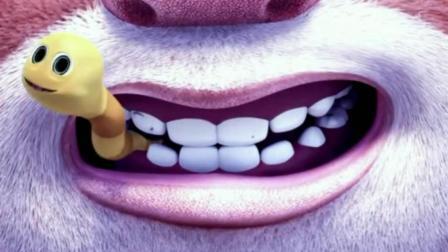 熊熊乐园: 熊大, 熊二吃蜂蜜, 熊大蜂蜜吃太多, 牙齿是生了虫子吗