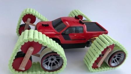 这个小伙厉害了! 把自己的玩具车改装成山地车了!