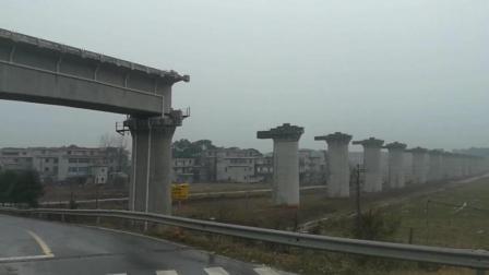 实拍: 江西吉安高铁西站的建设, 现在很多地桩已经打好了, 就差铺桥面了