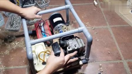用小发动机做发电机-再停多久的电我都不怕你!